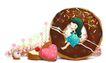 可爱小仙子0088,可爱小仙子,彩绘人物情景模板,女孩 童心 玩耍