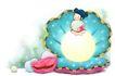 可爱小仙子0093,可爱小仙子,彩绘人物情景模板,河蚌 童子 珍珠