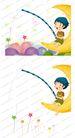 可爱小仙子0103,可爱小仙子,彩绘人物情景模板,弯月 童心 趣味