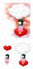 可爱小仙子0115,可爱小仙子,彩绘人物情景模板,云下 飘荡 秋千
