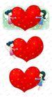 可爱小仙子0119,可爱小仙子,彩绘人物情景模板,爱心 互相 给予
