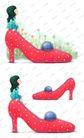 可爱小仙子0120,可爱小仙子,彩绘人物情景模板,高跟鞋 梦想 长大