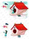 可爱小仙子0122,可爱小仙子,彩绘人物情景模板,小天使 飞翔 翅膀