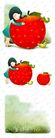 可爱小仙子0124,可爱小仙子,彩绘人物情景模板,红色 苹果 怀抱