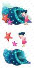 可爱小仙子0132,可爱小仙子,彩绘人物情景模板,海螺 五星 探索
