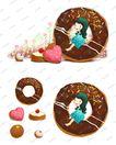 可爱小仙子0134,可爱小仙子,彩绘人物情景模板,巨大 圆环 巧克力