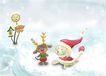 四季风景0040,四季风景,彩绘人物情景模板,冬帽 洋娃娃 卡通形象