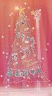 圣诞风景0002,圣诞风景,彩绘人物情景模板,星星 圣诞树 楼梯 小孩 摘星