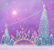 圣诞风景0005,圣诞风景,彩绘人物情景模板,圣诞节 圣诞树 繁星