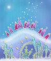 圣诞风景0006,圣诞风景,彩绘人物情景模板,星光 布置 风景