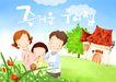 幸福家庭生活0001,幸福家庭生活,彩绘人物情景模板,一家人 蜗牛 家园 韩文 学习 韩国彩绘 家庭 天伦之乐 一家人 父子 童话 玩乐 玩耍