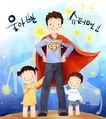 幸福家庭生活0034,幸福家庭生活,彩绘人物情景模板,飞人 飞侠 孩子