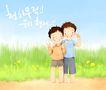 幸福家庭生活0044,幸福家庭生活,彩绘人物情景模板,亲人 亲情 靠近