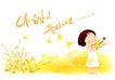 幼童写真0004,幼童写真,彩绘人物情景模板,创意 花枝 叶片 小提琴 演奏 小孩 小朋友 两小无猜 童年 稚童 童话 玩乐 玩耍 彩绘
