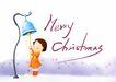 幼童写真0010,幼童写真,彩绘人物情景模板,圣诞节 快乐 祝福 摇铃 铃声 小孩 小朋友 两小无猜 童年 稚童 童话 玩乐 玩耍 彩绘
