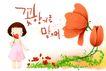 幼童写真0033,幼童写真,彩绘人物情景模板,花香 花开 花蕾