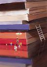 惬意情景0080,惬意情景,彩绘人物情景模板,攀登 知识 顶峰