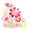 拇指女孩与花0002,拇指女孩与花,彩绘人物情景模板,花季 抓住 花瓣 粉色 惊奇