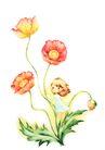 拇指女孩与花0025,拇指女孩与花,彩绘人物情景模板,攀爬 花枝 童趣