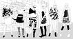 时尚人物0038,时尚人物,彩绘人物情景模板,街道 模特 身材