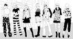 时尚人物0039,时尚人物,彩绘人物情景模板,人群 造型 服装