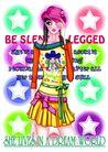 时尚人物0045,时尚人物,彩绘人物情景模板,短裙 腰带 星光
