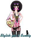 时尚人物0059,时尚人物,彩绘人物情景模板,