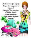 时尚人物0066,时尚人物,彩绘人物情景模板,香车 女人 房子