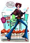 时尚人物0078,时尚人物,彩绘人物情景模板,奔跑 生活 节奏