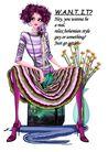 时尚人物0086,时尚人物,彩绘人物情景模板,挎开 大腿 裙摆