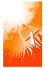 时尚藤图0093,时尚藤图,彩绘人物情景模板,红色 草叶 十字架