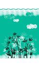 时尚藤图0102,时尚藤图,彩绘人物情景模板,水波 印像 水草