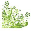 时尚藤图0109,时尚藤图,彩绘人物情景模板,浅绿 花草 茂盛