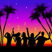 时尚藤图0115,时尚藤图,彩绘人物情景模板,椰林 狂舞 摇滚
