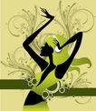 时尚藤图0123,时尚藤图,彩绘人物情景模板,手姿 柔美 软盈
