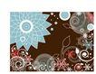 时尚藤图0126,时尚藤图,彩绘人物情景模板,浅蓝 花轮 锯齿形
