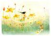 梦幻风景0004,梦幻风景,彩绘人物情景模板,翅膀 飞翔 荷花 女孩 水面