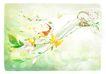 梦幻风景0010,梦幻风景,彩绘人物情景模板,飞翔 尖尖帽 彩蝶 枝丫 飞向