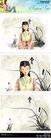 梦想少年0041,梦想少年,彩绘人物情景模板,维吾尔 女孩 民族