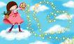 欢乐儿童0017,欢乐儿童,彩绘人物情景模板,放逐 形成 魔幻 腾云 闪烁