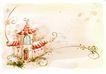 节庆艺术风景0001,节庆艺术风景,彩绘人物情景模板,房子 艺术风景 节日气息