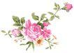 典雅花纹0161,典雅花纹,花纹边框,延伸 花枝 旁顾