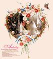 年青的心0225,年青的心,花纹边框,心型 花框 蝴蝶