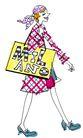 彩绘物件0193,彩绘物件,花纹边框,女郎 挎包 细腿