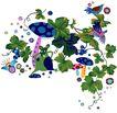 彩绘物件0214,彩绘物件,花纹边框,生长 植物 花纹
