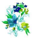 新潮色彩0022,新潮色彩,花纹边框,季节 开花时间 绘画