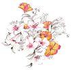 新潮色彩0026,新潮色彩,花纹边框,白色花朵 花蕊 衬托