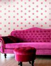 时尚纹理0074,时尚纹理,花纹边框,粉红 圆点 墙纸