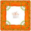 纹理边框0002,纹理边框,花纹边框,绿藤 框架 方形