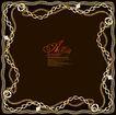 纹理边框0020,纹理边框,花纹边框,铁链 链条 金属边框